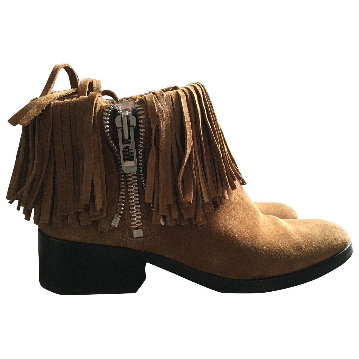 3.1 Phillip Lim \N Brown Suede Ankle boots for Women 37 EU