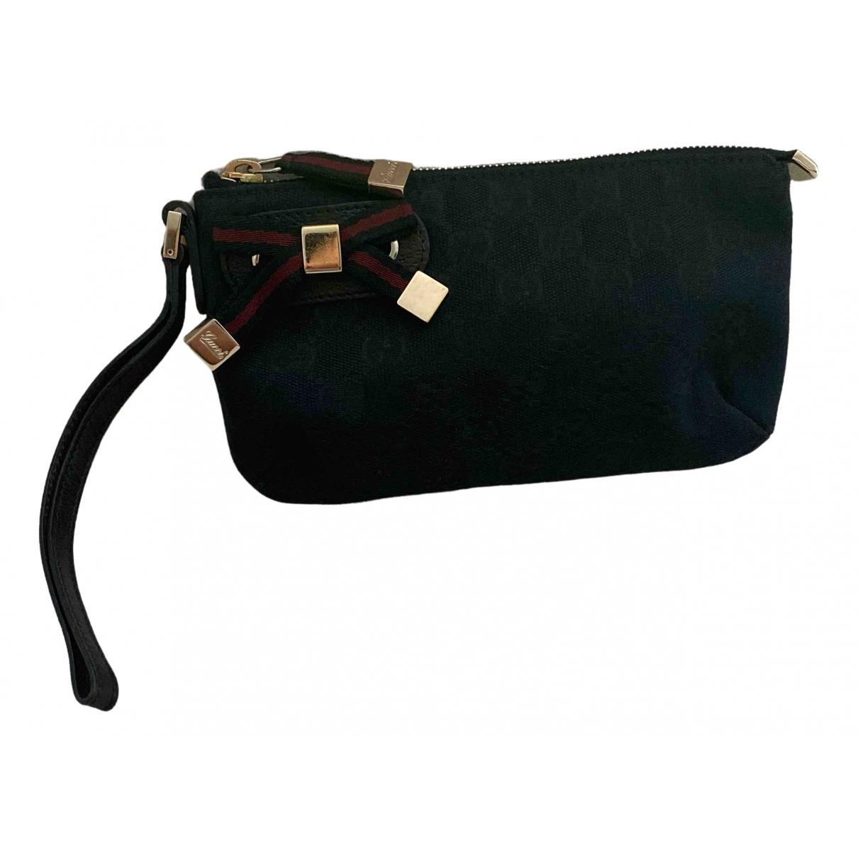 Gucci - Pochette Guccy clutch pour femme en toile - noir
