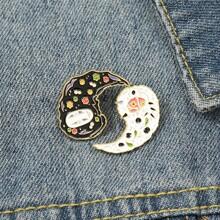 2pcs Yin & Yang Design Brooch