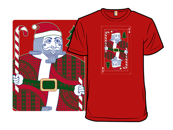 Santa Playing Card T Shirt
