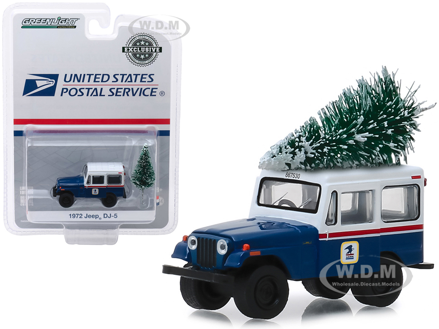 1972 Jeep DJ-5 Blue with White Top