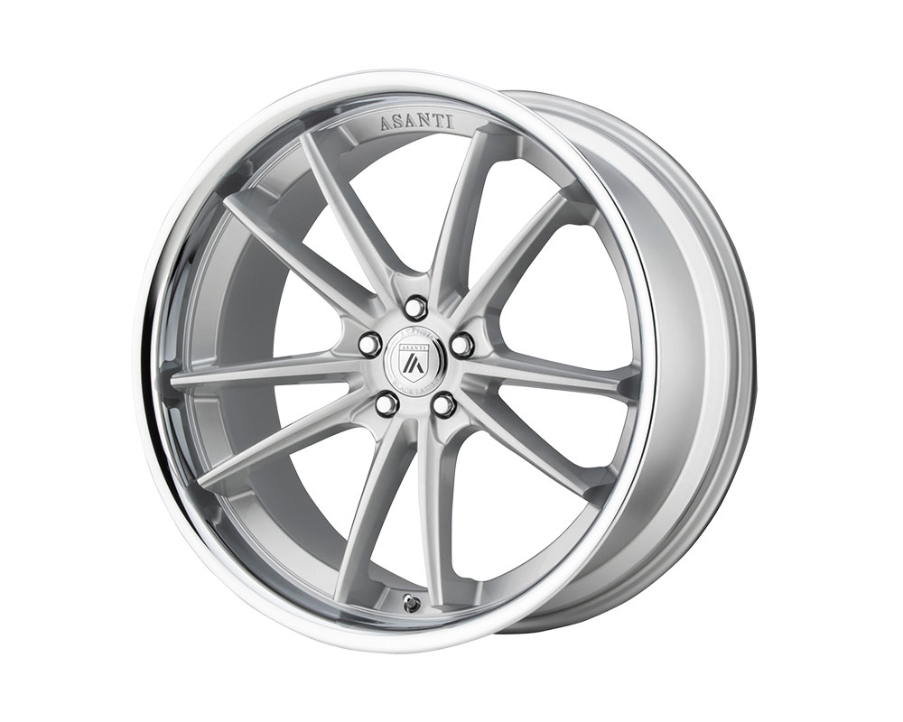 Asanti ABL23-22051235SL Black ABL-23 Delta Wheel 22x10.5 5x5x114.3 +35mm Brushed Silver Chrome Lip