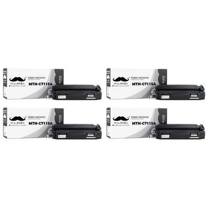 Compatible HP 15A C7115A cartouche de toner noire - 4/paquet