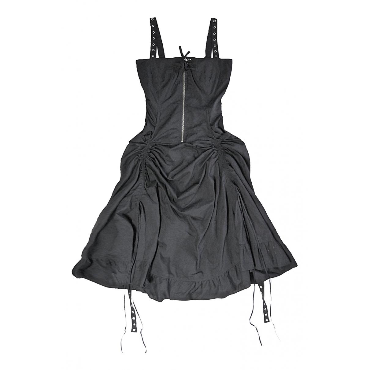 Non Signé / Unsigned \N Black Cotton dress for Women 40 IT