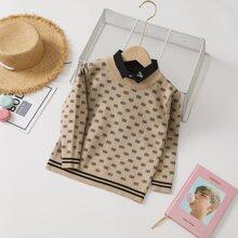 Pullover mit komplettem Muster