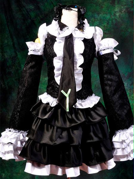 Milanoo Halloween Vocaloid Hatsune Miku Halloween Cosplay Disfraz Criada Vestido