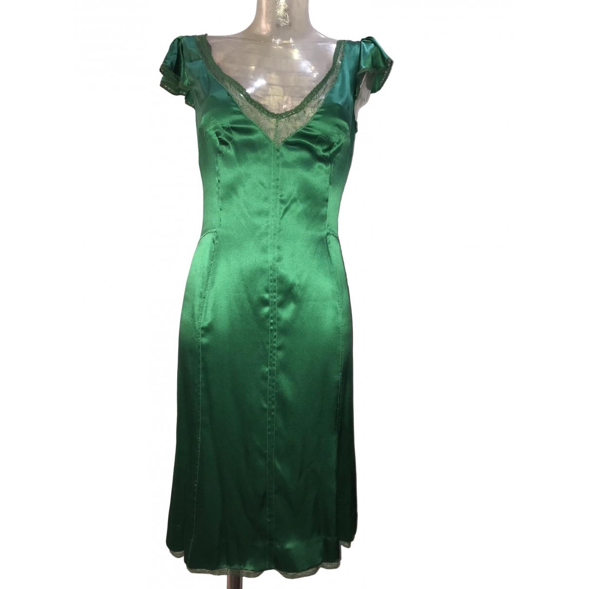D&g - Robe   pour femme en soie - vert