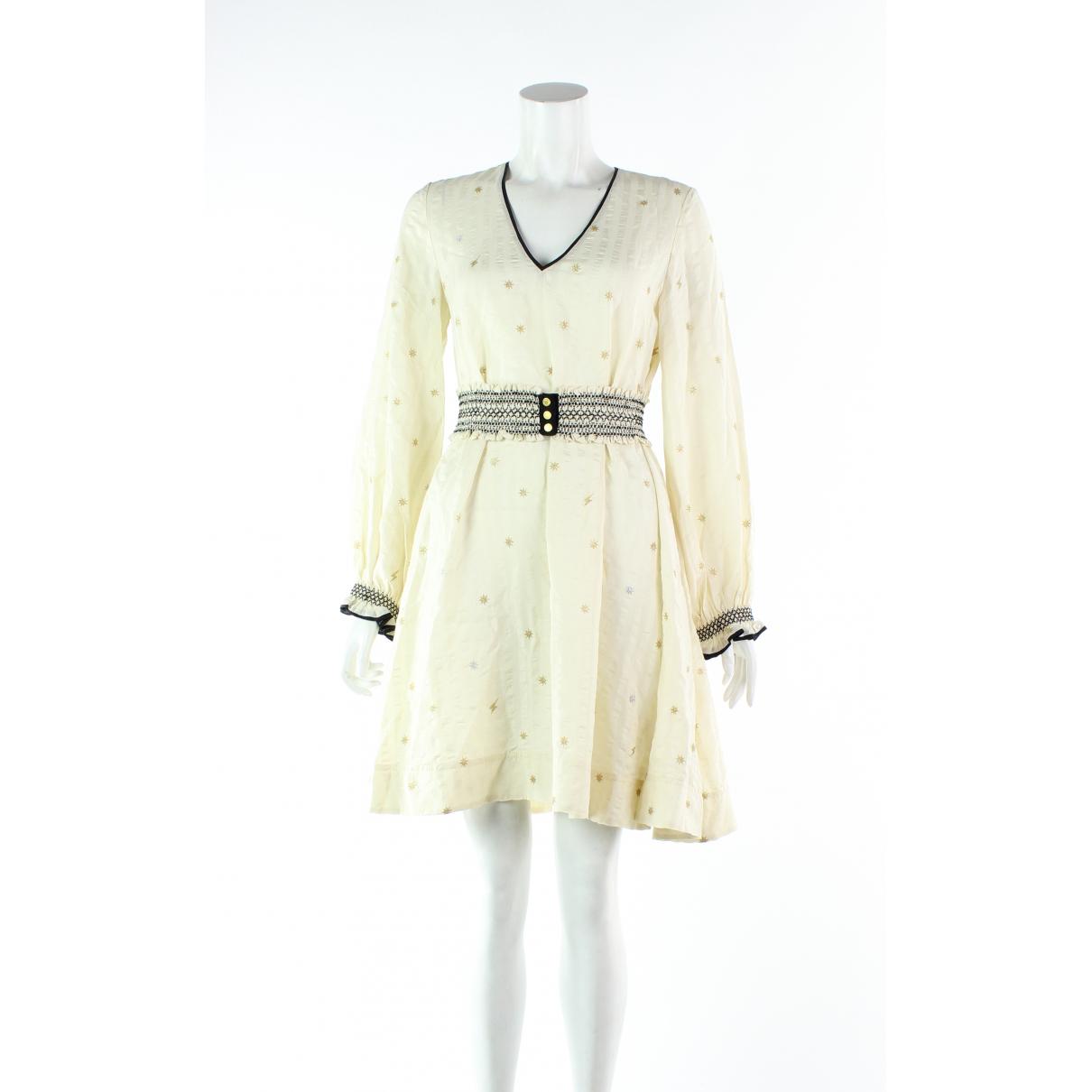 Zadig & Voltaire - Robe   pour femme en soie - ecru