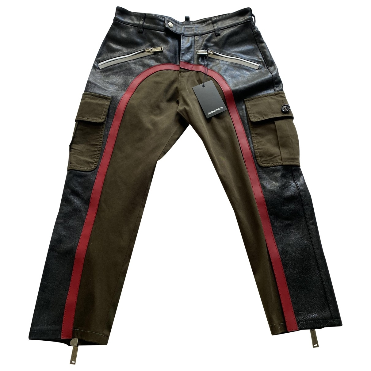 Dsquared2 \N Leather Trousers for Women 48 IT
