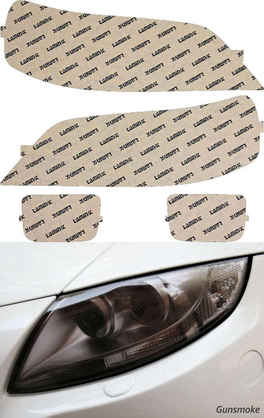 Acura RL 02-04 Gunsmoke Headlight Covers Lamin-X AC404G