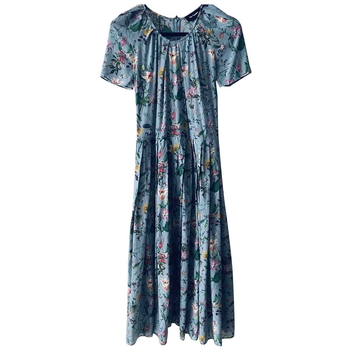 The Kooples - Robe   pour femme en soie - turquoise