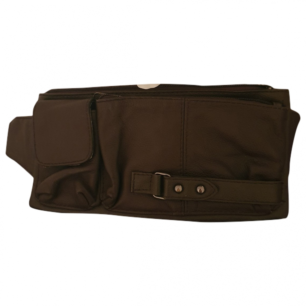 Non Signé / Unsigned \N Brown Leather Small bag, wallet & cases for Men \N