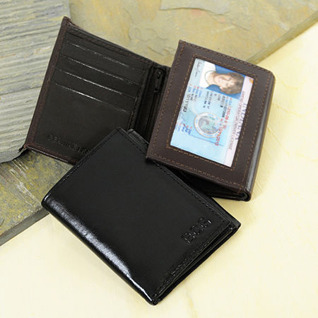 Cathy's Concepts Monogram Trifold Wallet With I.D. Window, One Size , Brown