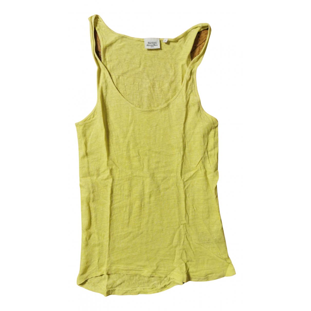 Hartford - Top   pour femme en lin - jaune