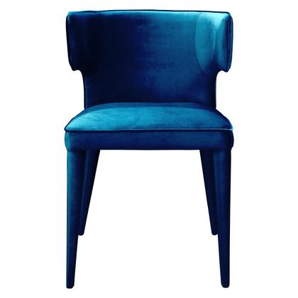 Jennaya Collection EH-1103-36 Dining Chair with Metal Frame in Blue