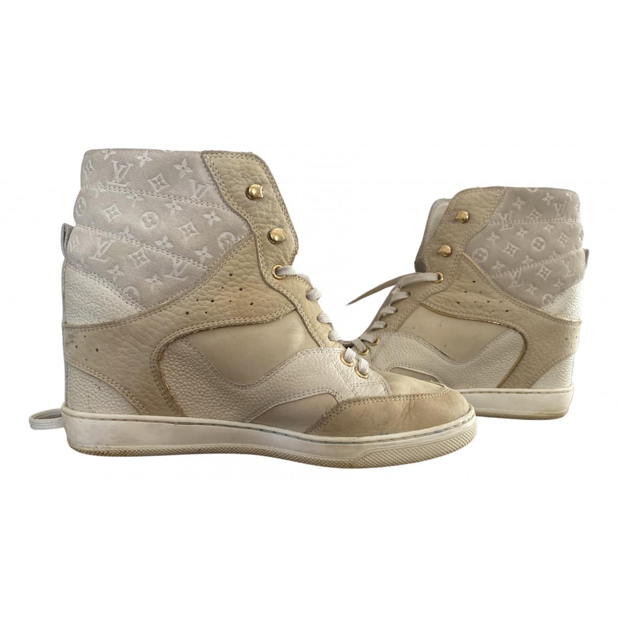 Louis Vuitton \N White Cloth Trainers for Women 37 EU