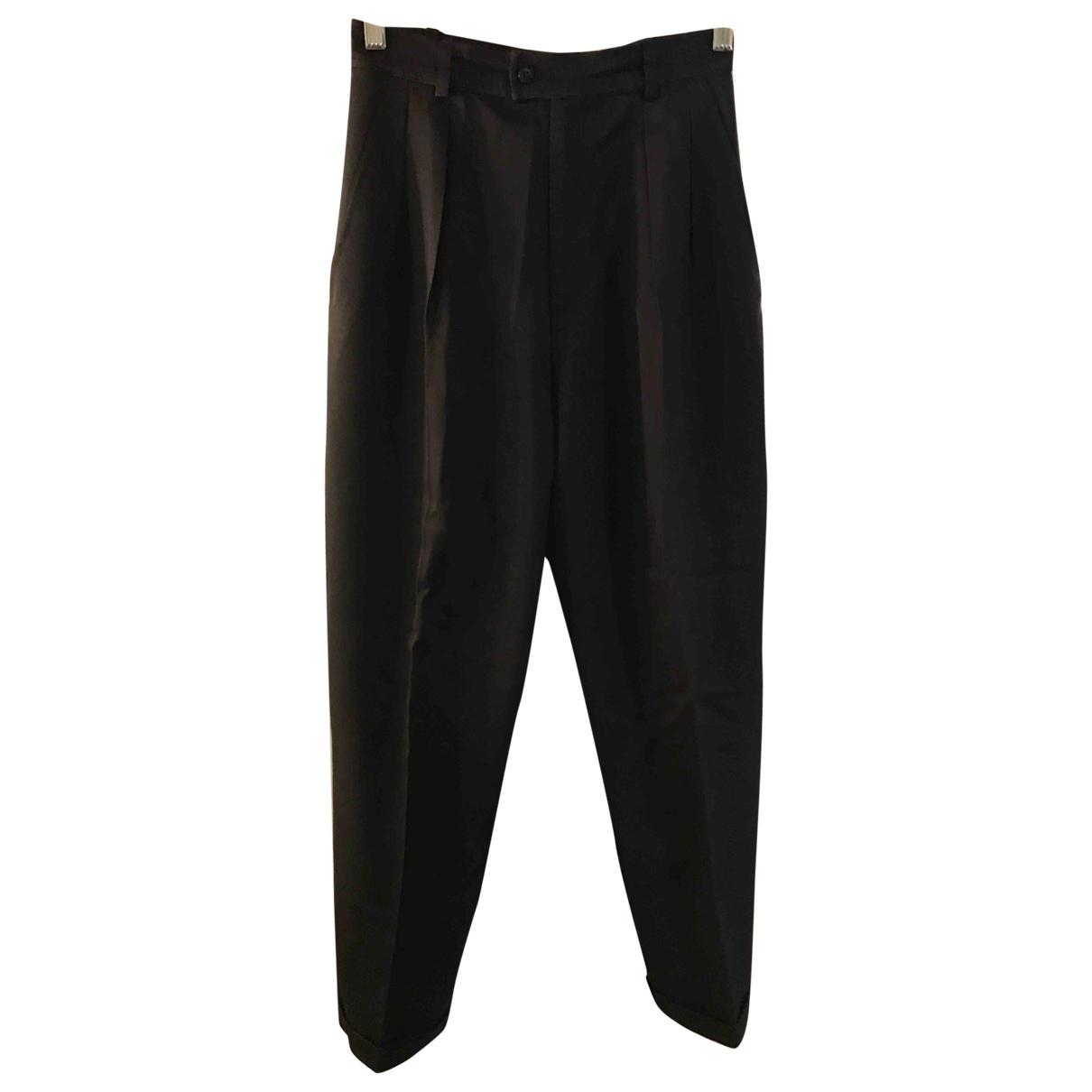 Yves Saint Laurent \N Brown Wool Trousers for Women 36 FR