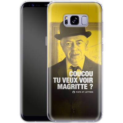 Samsung Galaxy S8 Plus Silikon Handyhuelle - Tu Veux Voir Magritte von Fists Et Lettres