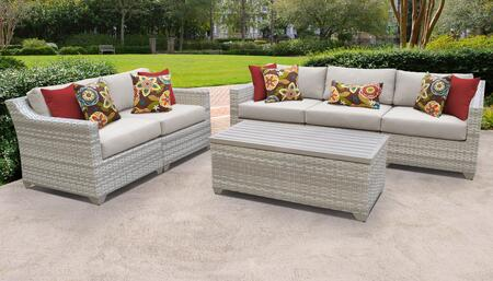 Fairmont Collection FAIRMONT-06p 6-Piece Patio Set 06p with 1 Armless Chair   1 Storage Coffee Table   2 Left Arm Chair   2 Right Arm Chair - 1 Set