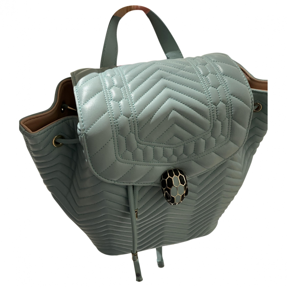 Bvlgari Serpenti Turquoise Leather backpack for Women \N