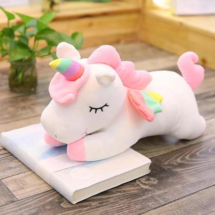 Unicorn Gifts Sleeping Comfort Cushion Soft Pillow Plush Unicorn Toy - White, 60cm