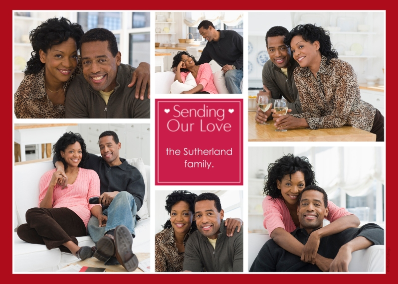 Just Because 5x7 Cards, Premium Cardstock 120lb with Rounded Corners, Card & Stationery -Sending Our Love