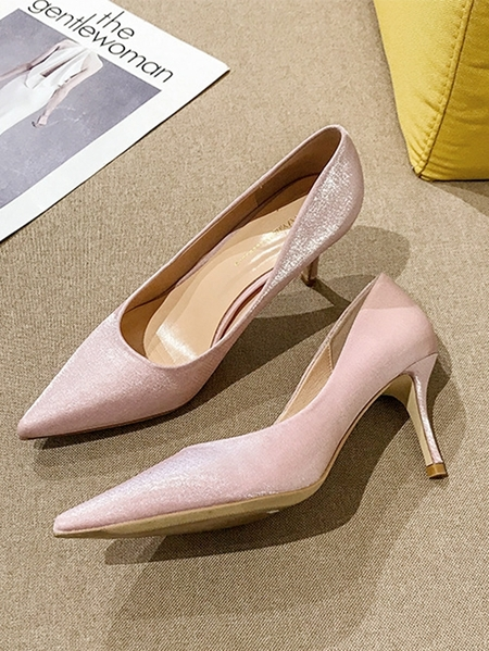 Yoins Sexy Sheer Pointed High Heels
