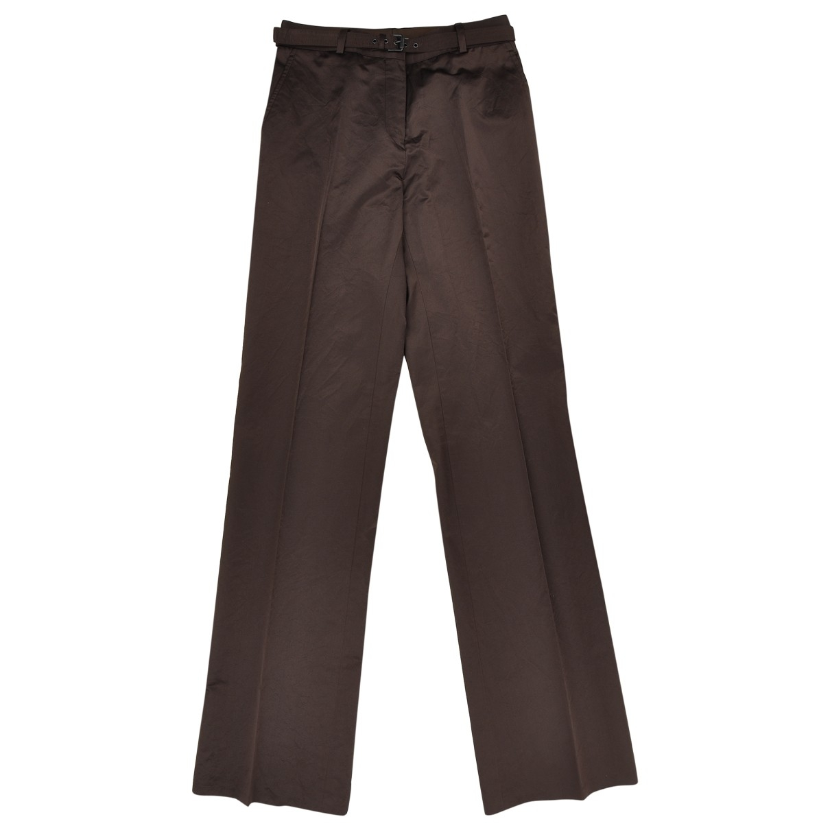 Bottega Veneta \N Brown Trousers for Women 38 IT