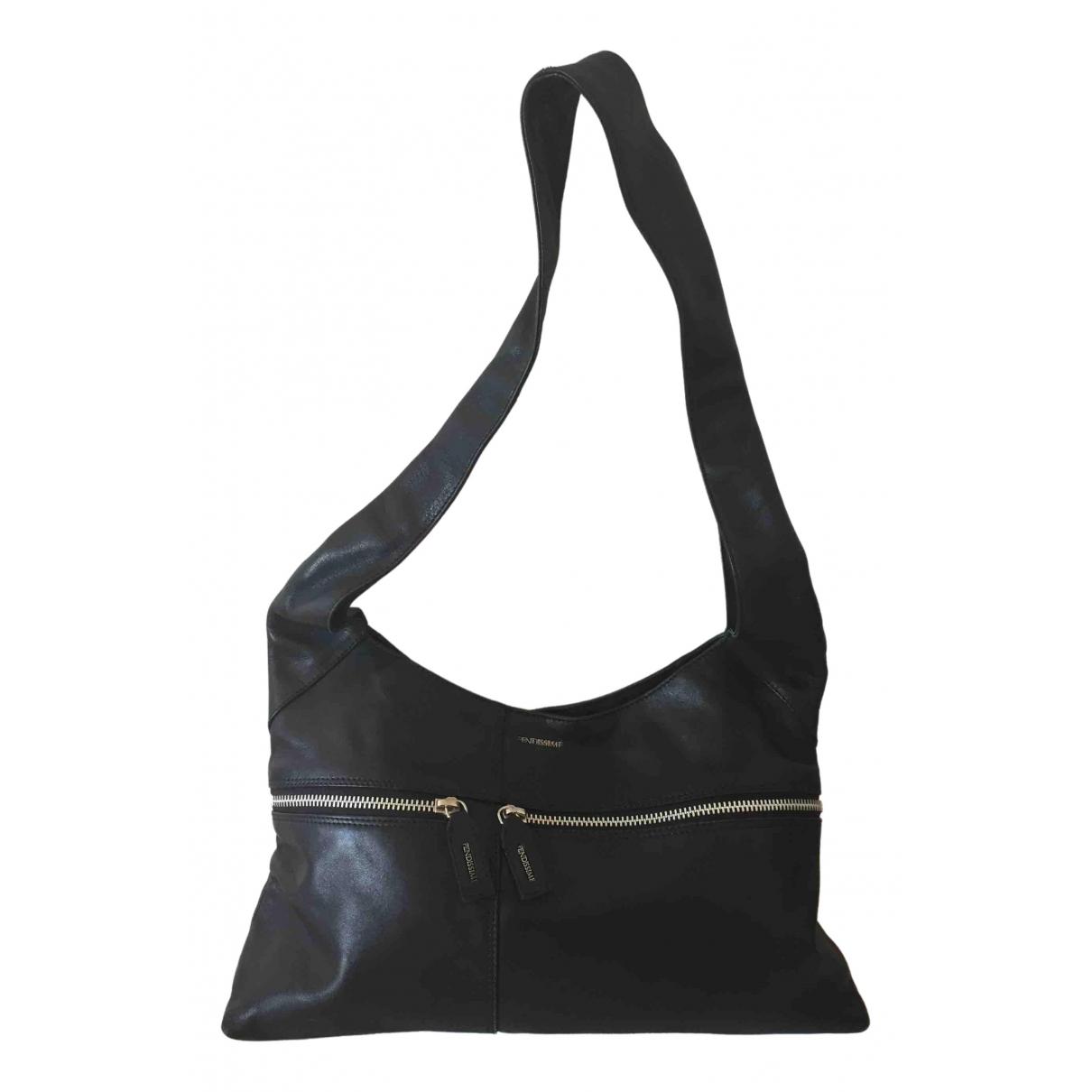Fendissime \N Handtasche in  Schwarz Leder