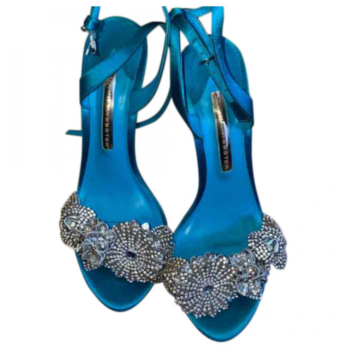 Sophia Webster - Escarpins   pour femme en toile - bleu