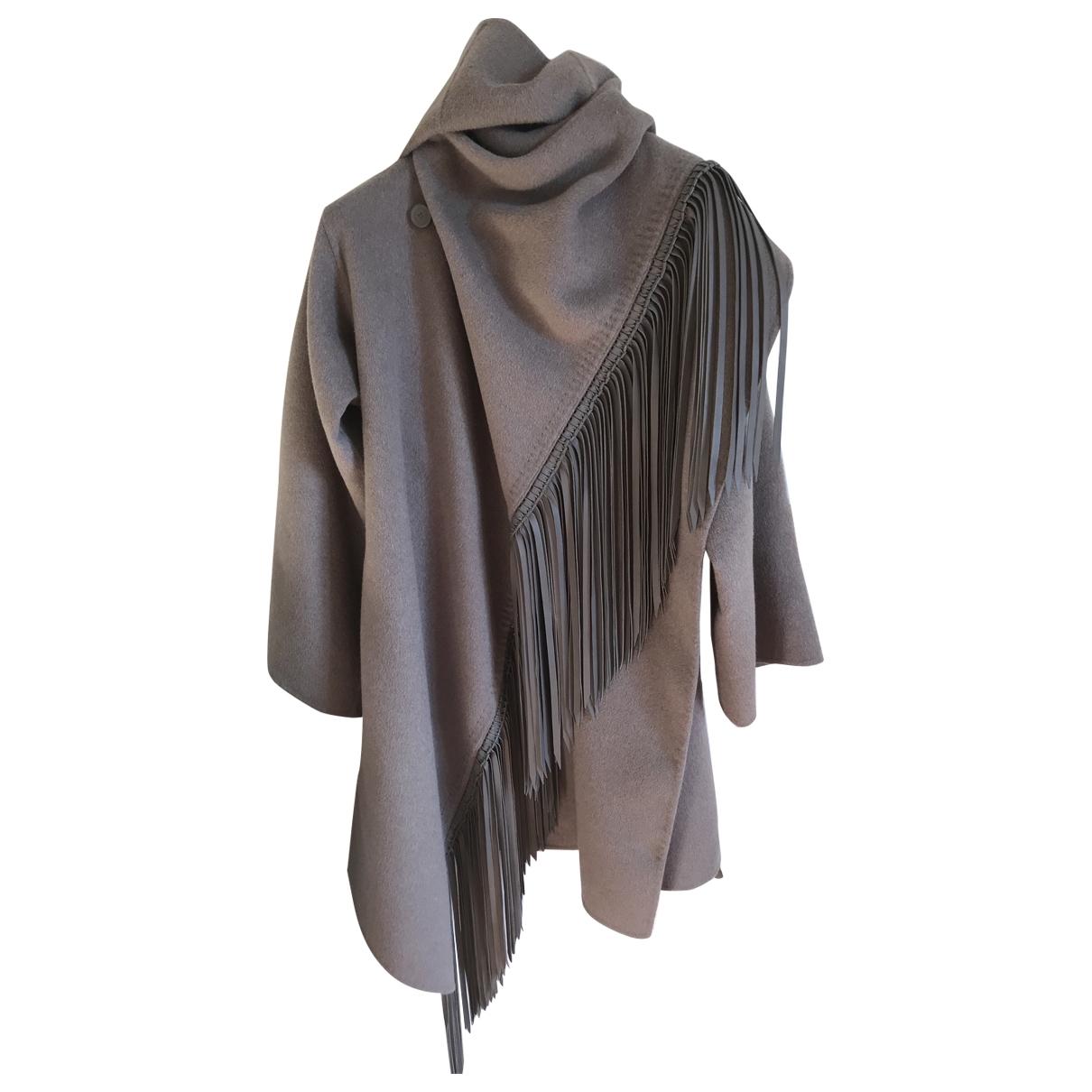 Ermanno Scervino - Manteau   pour femme en laine - gris