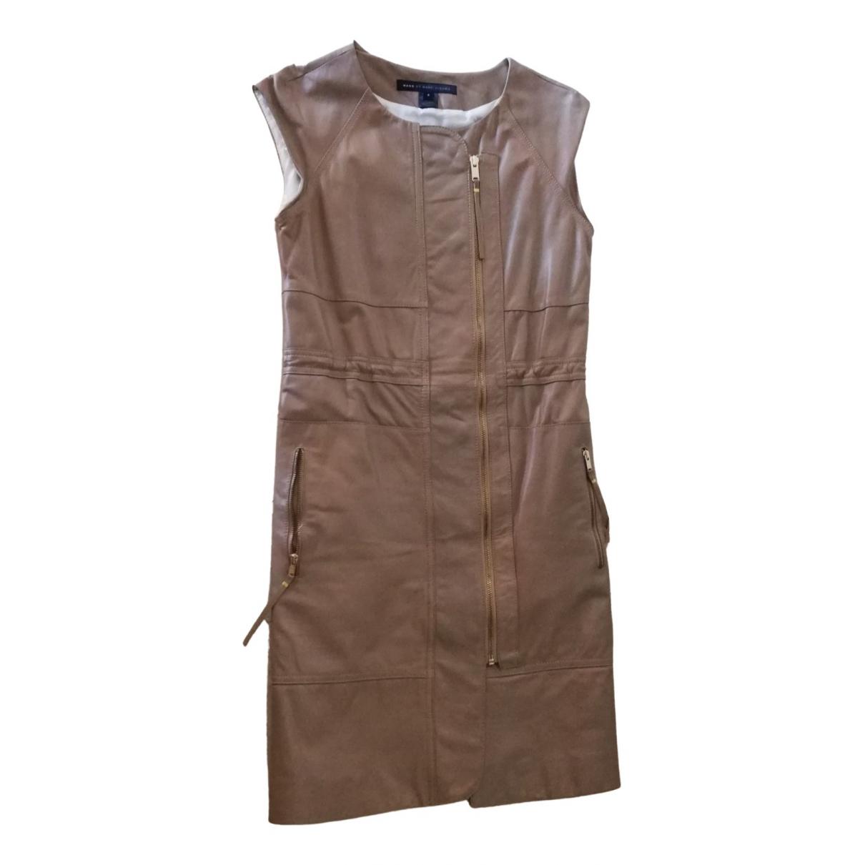 Marc By Marc Jacobs \N Kleid in  Beige Leder