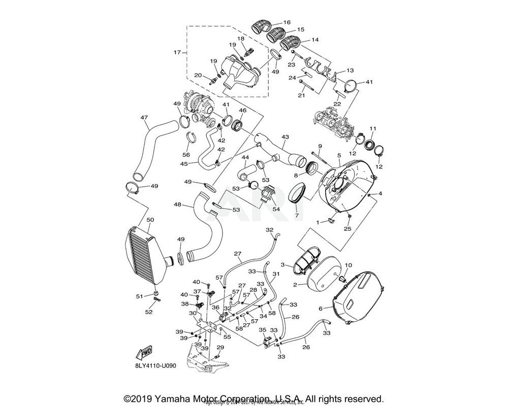Yamaha OEM 8KJ-13630-00-00 INTAKE MANIFOLD ASSY.