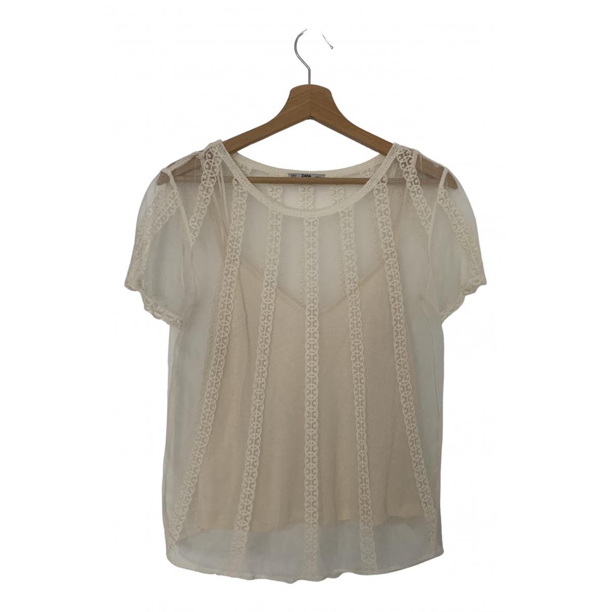 Zara N Ecru Cotton  top for Women 36 FR