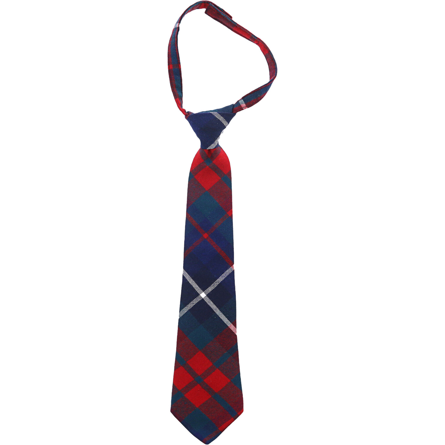 Janie And Jack Plaid Tie Neckty - 2-5 - Red / Green / Navy Plaid