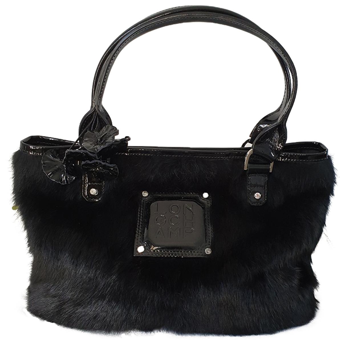 Longchamp N Black Fur handbag for Women N