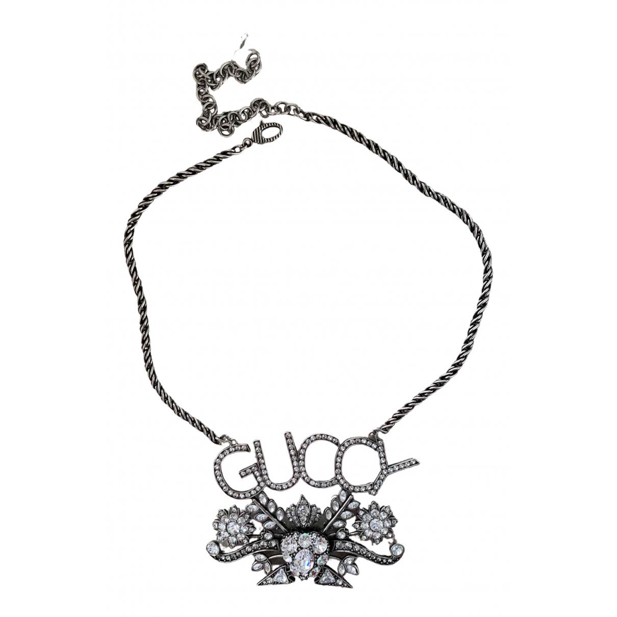 Gucci \N Kette in  Silber Metall
