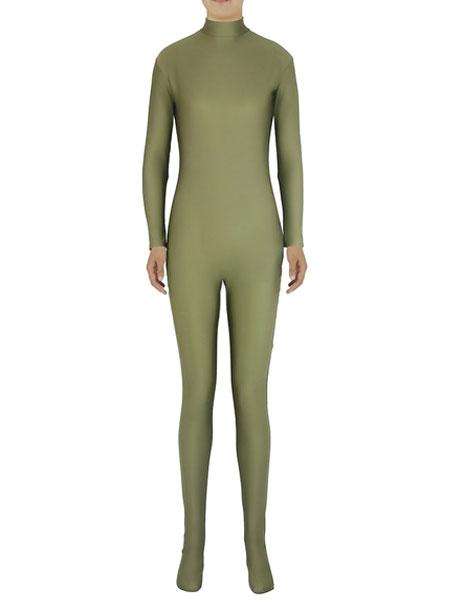 Milanoo Greyish Green Morph Suit Adults Bodysuit Lycra Spandex Catsuit for Women