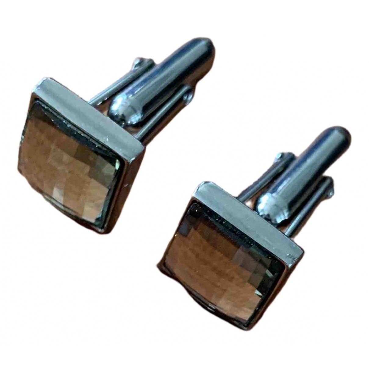 Swarovski \N Manschettenknopfe in  Silber Metall