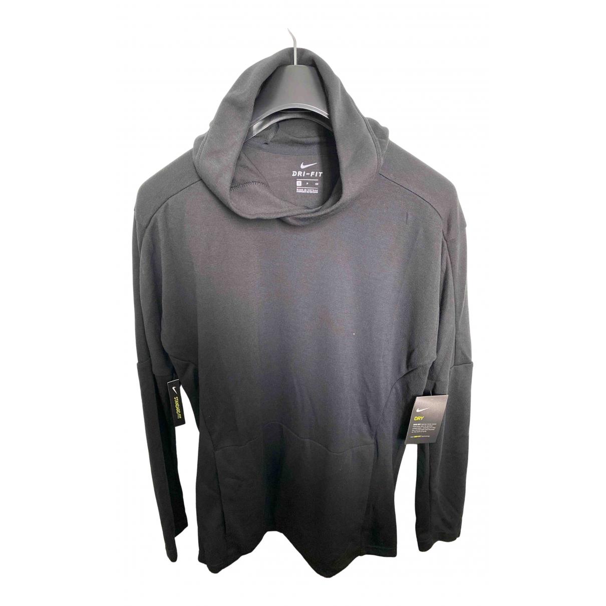 Nike \N Pullover.Westen.Sweatshirts  in  Schwarz Polyester