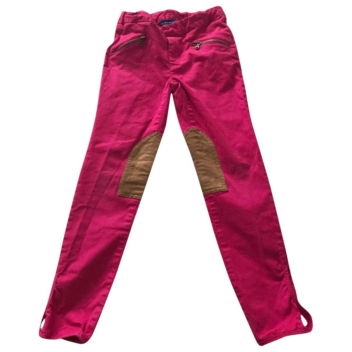 Ralph Lauren - Pantalon   pour enfant en coton - rose