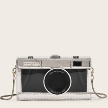 Camera Design Chain Crossbody Bag
