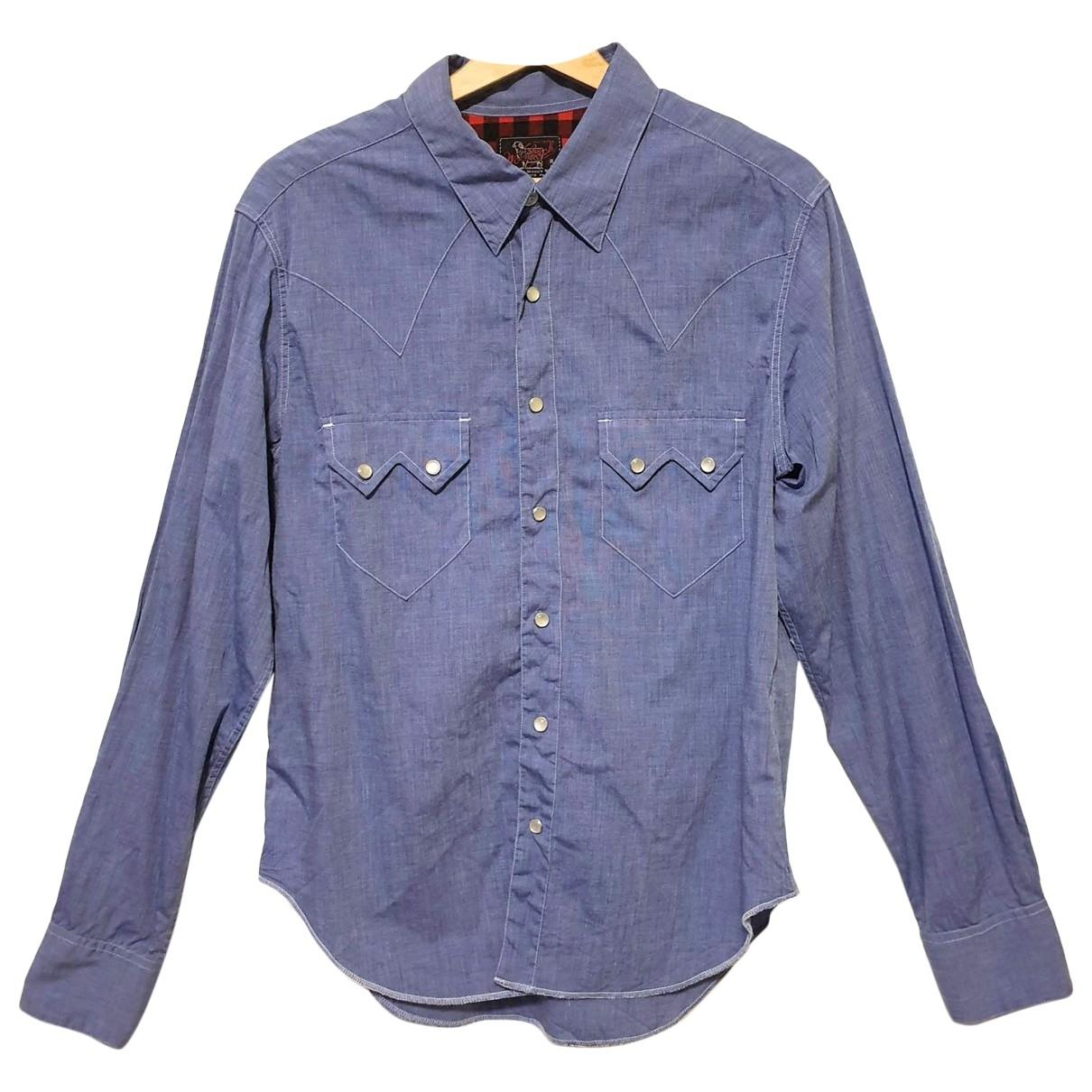 Woolrich - Chemises   pour homme en coton - bleu