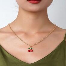 Halskette mit Kirsche Anhaenger