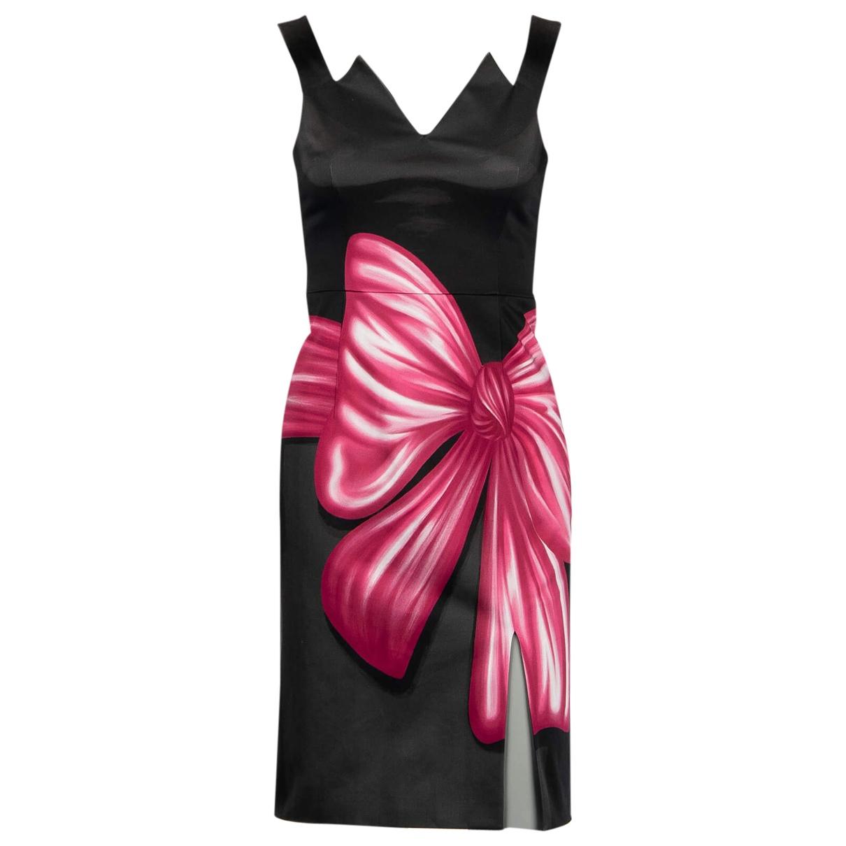 Moschino \N Kleid in  Schwarz Baumwolle