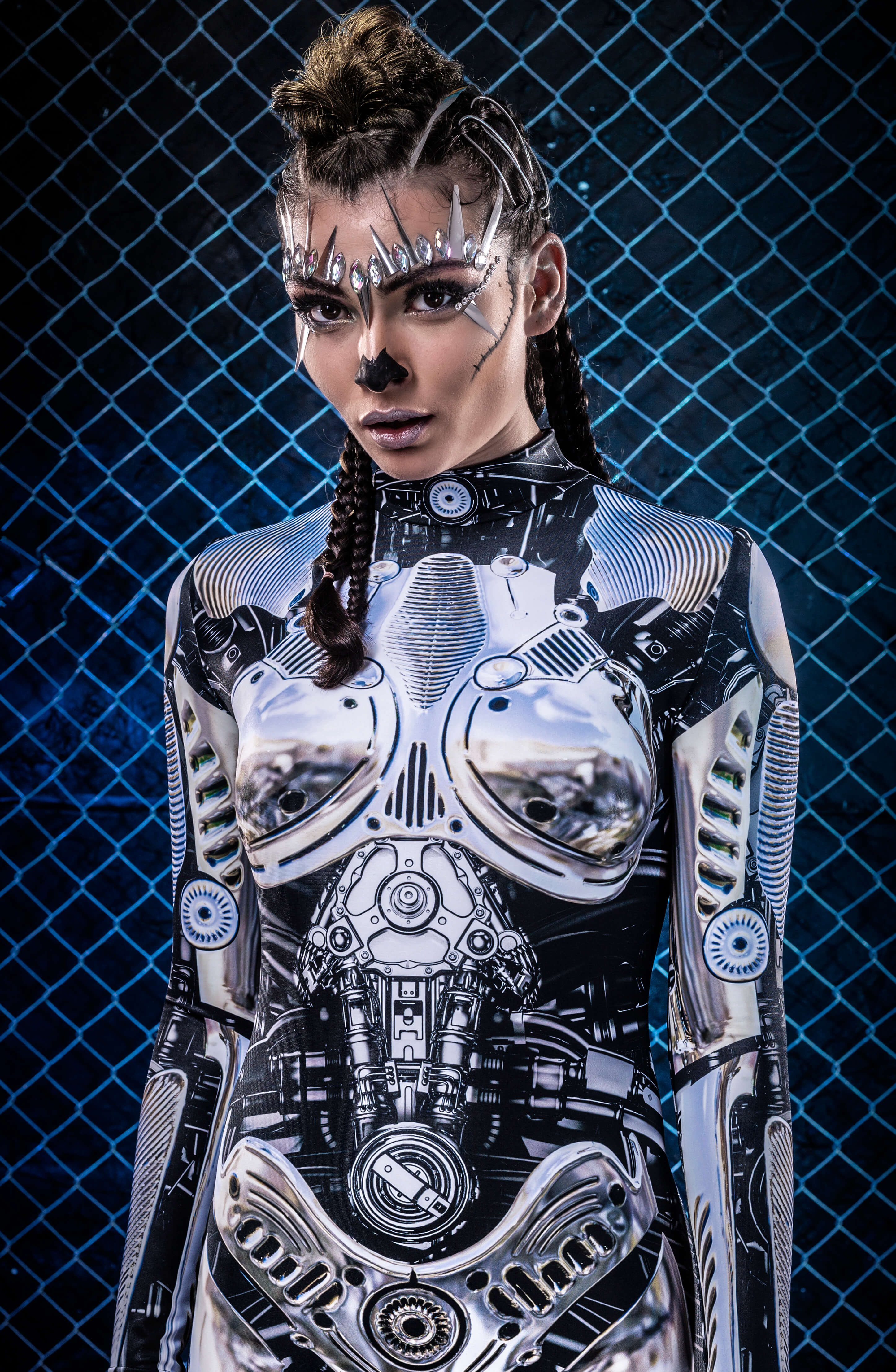 Rave Festival Clothing Women - Cyberpunk Steampunk Cosplay Outfit