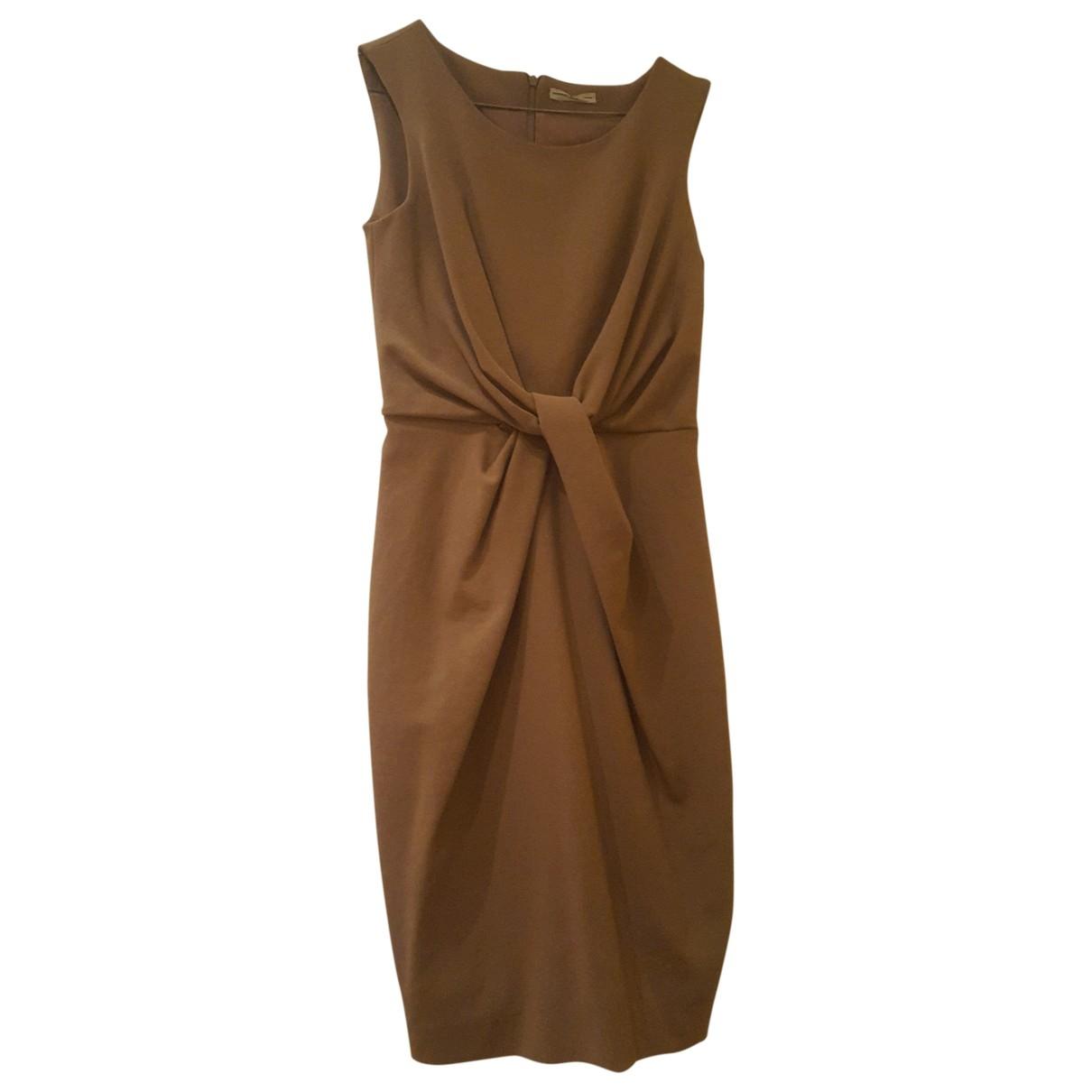 Daniele Alessandrini \N Kleid in  Beige Polyester