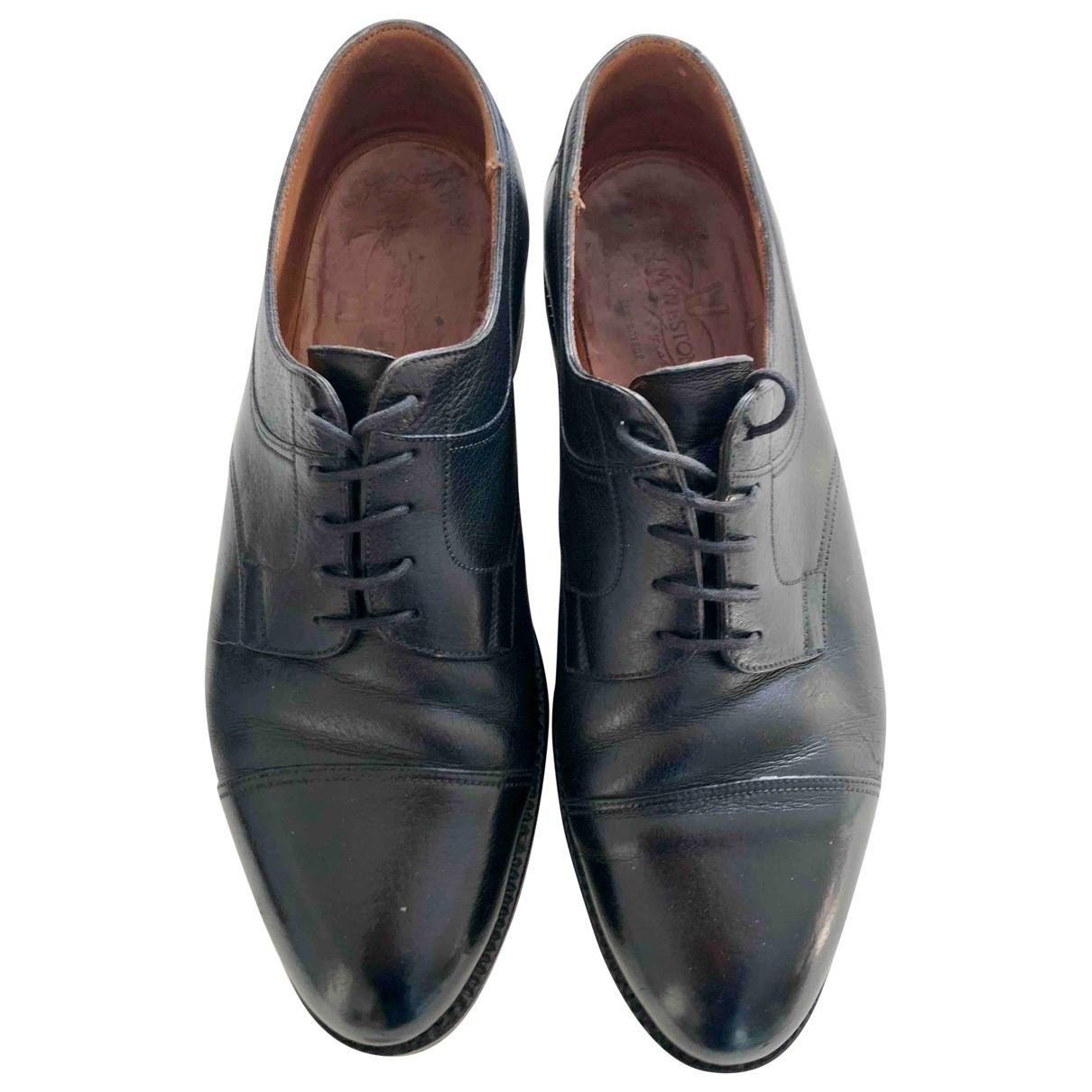 Jm Weston \N Black Leather Lace ups for Men 8.5 UK