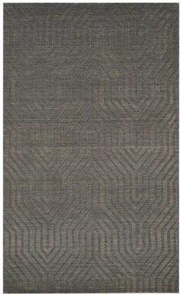 TECTC857833000810 Technique TC8578-8' x 10' Hand-Loomed 100% Wool Rug in Gray   Rectangle