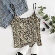 Plus Leopard Cami Top